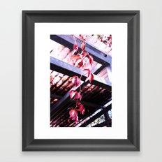 Red Autumn Leaves #1 #foliage #art #society6 Framed Art Print