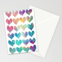 A Colorful Kind Of Love  Stationery Cards