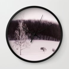 The forest behind the tree Wall Clock