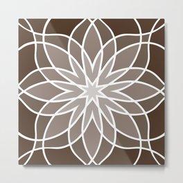 Shades of Brown | Geometric Pattern Metal Print