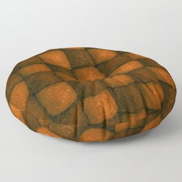 The world of wool - chocolate and honey Floor Pillow