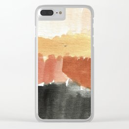 Abstract in Rust n Clay Clear iPhone Case