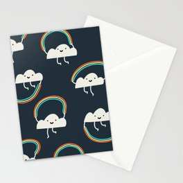Rainbow Skipping Pattern Stationery Cards
