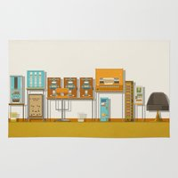 budapest hotel Area & Throw Rugs featuring The Grand Budapest Hotel  by Daniel long Illustration