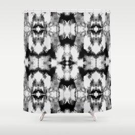 Tie Dye Blacks Shower Curtain