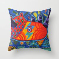 lost in translation Throw Pillows featuring Lost in Translation by Adrienne S. Price