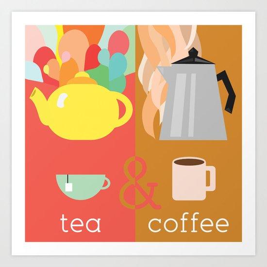 Tea&Coffee Art Print