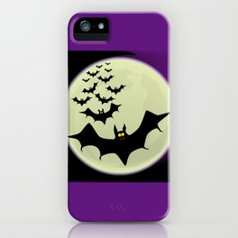 Bats and Moon iPhone Case