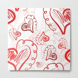 Heart Pattern 03 Metal Print