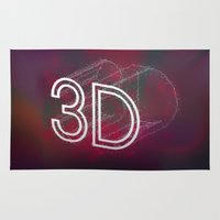 3d Area & Throw Rugs featuring 3D by Andra Vlasceanu