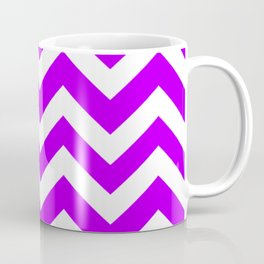 Electric purple - violet color - Zigzag Chevron Pattern Coffee Mug