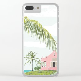 Rowdy's Pink Beach Bar in the Bahamas Clear iPhone Case