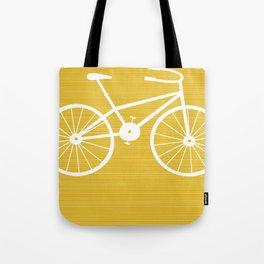 Yellow Bike by Friztin Tote Bag