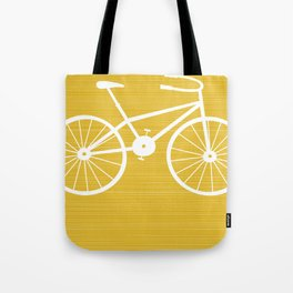 Yellow Bike by Friztin Tote Bag