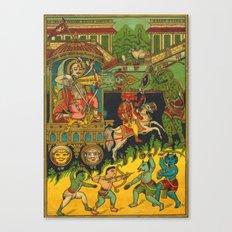 Indian Trade Label Print Canvas Print