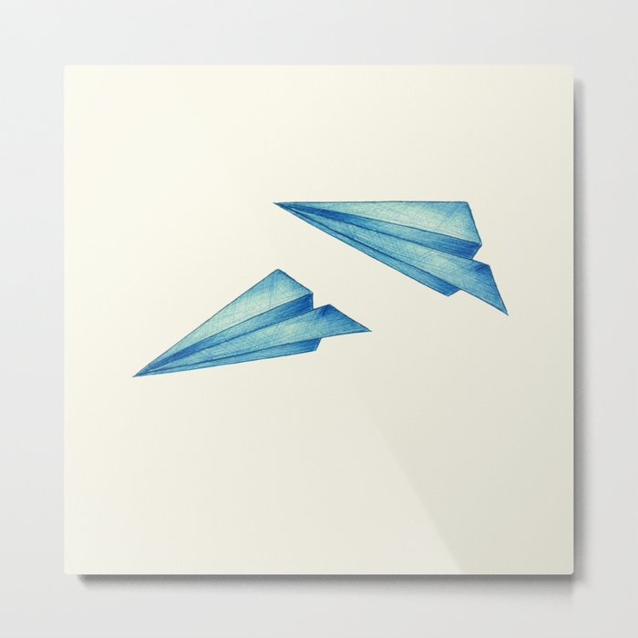High Flyer | Origami | Simplified Metal Print