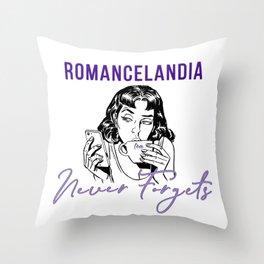 Romancelandia Never Forgets -- 2 Tone Purple Throw Pillow