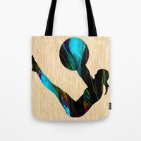 fitness Tote Bags featuring Fitness by marvinblaine
