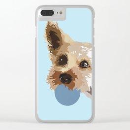 Rex in blue Clear iPhone Case