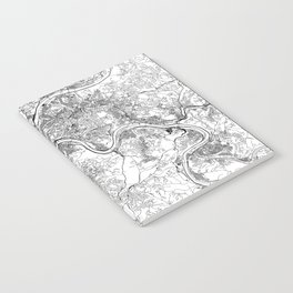 Pittsburgh White Map Notebook