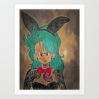 dragon ball Art Prints featuring First Lady Of Dragon Ball  by Artistic