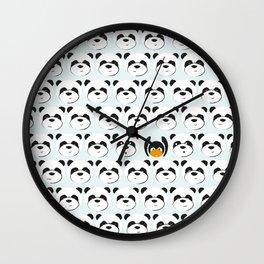 Panda'monium Wall Clock