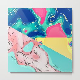 Abstract Artistic Colorful Dream World Metal Print