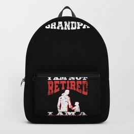 Mens I Am Not Retired I Am A Professional Grandpa Funny design Backpack