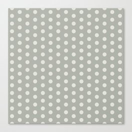 Gray Grey Polka Dots Canvas Print