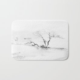 Scots Pine, Gray Bath Mat