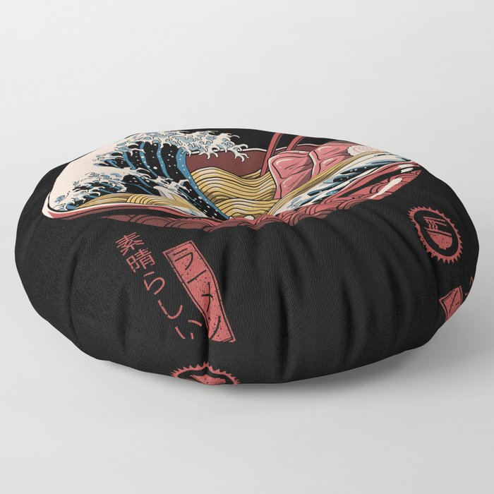 Great Ramen Wave Floor Pillow