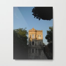 Chicago Graystone at Sunset  Metal Print