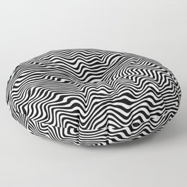 Op Art Stripes Floor Pillow