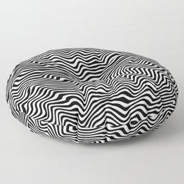 Op Art Stripes Floor Pillow