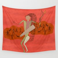 hunting Wall Tapestries featuring Hunting Party by BohemianBound