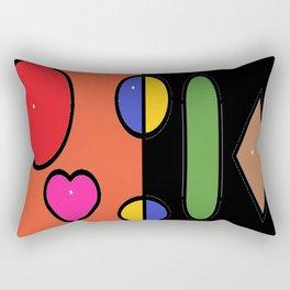 Black Bllue Rectangular Pillow