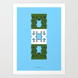 Symmetry: Crocodile Art Print