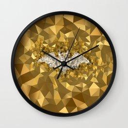 POLYNOID Bat / Gold Edition Wall Clock