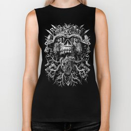 Aztec Skull Biker Tank