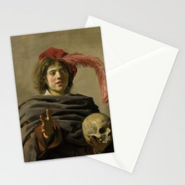 """Frans Hals """"Young man with a skull"""" Stationery Cards"""