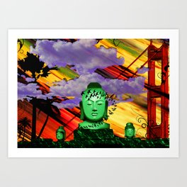 Buddha in color Art Print