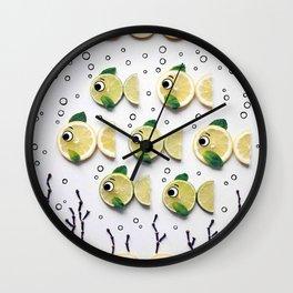 Fish under the sea art Wall Clock