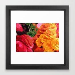 A Bunch of Fractured Flowers Framed Art Print