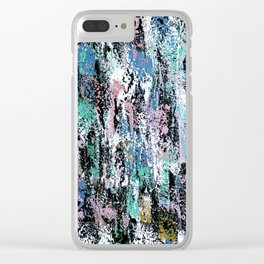 Abstract Gabrielle Clear iPhone Case