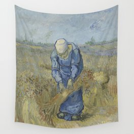 Peasant Woman Binding Sheaves (after Millet) Wall Tapestry