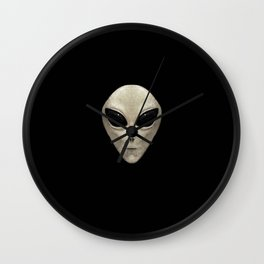Grey Alien Wall Clock