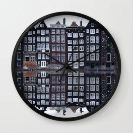 Amsterdam houses 1. Wall Clock