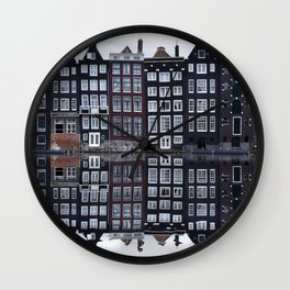 Amsterdam houses 1. Wall Clock
