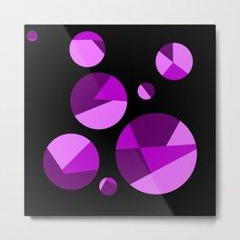 Cracked Purple Metal Print