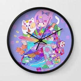 Rainbow sword -Nekoneko Wall Clock